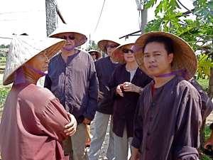 Travaux champetral des paysans a Hoi An