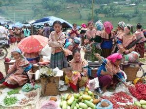 Marche de Can a la province de Lao Cai