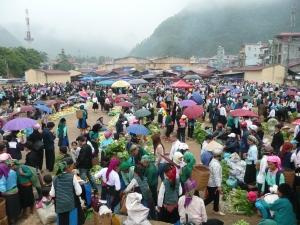 Marche colore de Mao Vac au dimanche