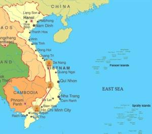 Carte de la ville de DaNang