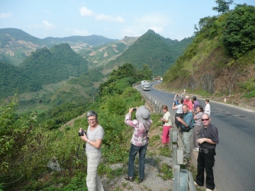 Arrêts de photos lors du voyage