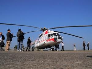 helicoptere pour but touristique au Vietnam