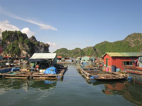 Dans le Village de Cai Beo - l'ile de Cat Ba