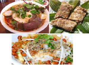 trois plats bien remarquables de Hue