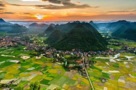 visiter nord vietnam rizieres de bac son coucher soleil.jpg